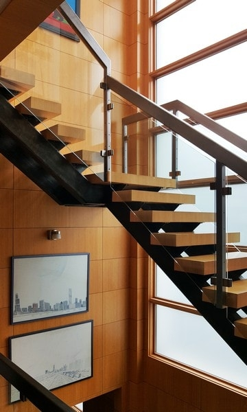Glass Railings Creative Mirror Shower   Glass Stair Railing Near Me   Interior   Railing Systems   Stainless Steel   Tempered Glass Panels   Iron
