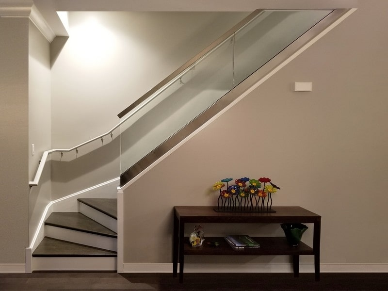 Glass Railings Creative Mirror Shower | Staircase Railing With Glass | Low Cost | Cost | Residential | Pinterest | Spiral