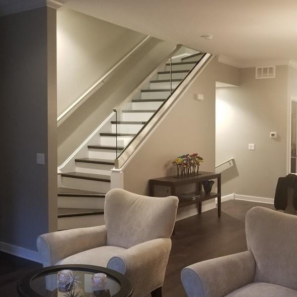 Glass Railings Creative Mirror Shower | Living Room Railing Design | Balcony | Stair Case | Flooring | Step Down | Wrought Iron