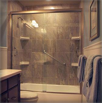 Frameless Bypass Shower Doors  Creative Mirror  Shower
