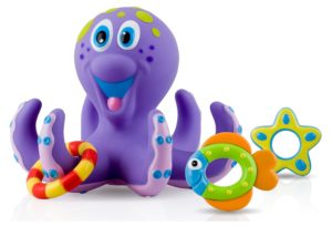 2. Nuby Octopus Hoopla Bathtime Fun Toys