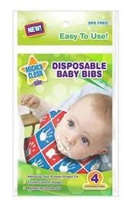 Disposable baby bibs