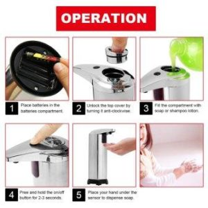 Touchless infrared motion soap dispenser