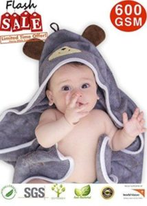 Organic bamboo Baby hooded towel