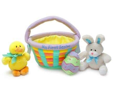 Genius baby toys Baby's My First Easter Basket Playset- Baby Gund