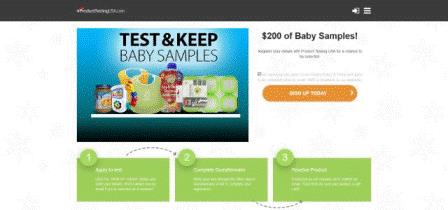 Product Testing - Baby Samples (US)