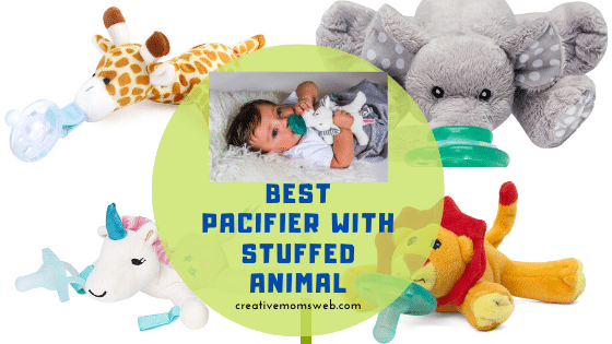 baby pacifier with stuffed animal
