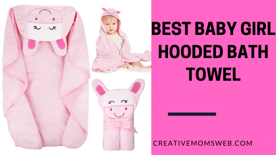Hooded towel for baby girl