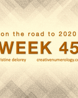 WEEK 45 – on the road to 2020