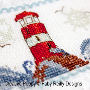 Faby Reilly Designs  High Seas band Nautical decor cross stitch pattern