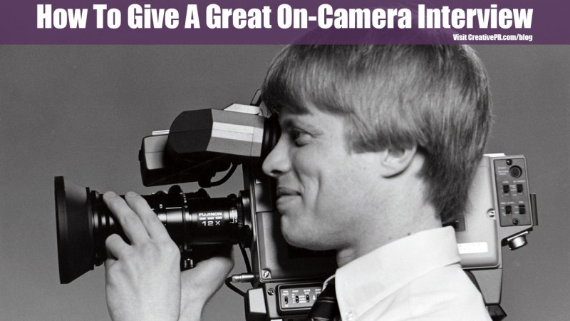 How To Give An Interview On Camera