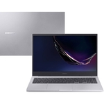 "Notebook Samsung Book E20 Intel Celeron 4GB 500GB W10 15,6"" Prata"