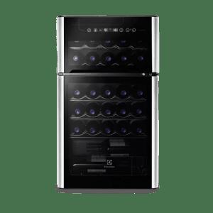 Adega 29 Garrafas 2 Portas Preta e Acabamento Inox Electrolux (ACD29)