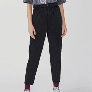 Calça Feminina Modelagem New Boyfriend Em Jeans Com Elastano