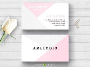 Pastel minimal fashion business card