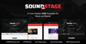 SoundStage - A Rockin' PSD Music Template