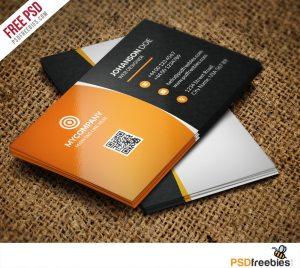 Creative Corporate Business card Bundle Free PSD