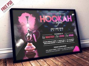 Creative Hookah Night Party Flyer PSD Template