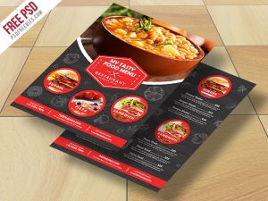 Creative Restaurant Food Menu Flyer Free PSD