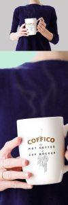 Creative Woman Holding a Coffee Mug Mockup PSD