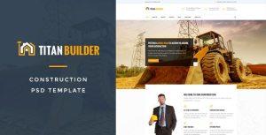 Titan Builders : Construction PSD Template