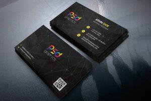 classy black business card