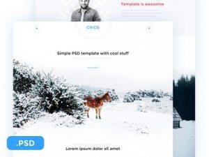 Creative Crios ‰ÛÒ Free PSD website template