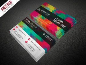 Creative Creative Multicolor Business Card Template Free PSD