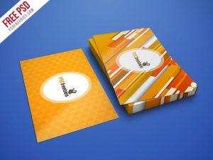 Creative Realistic Business Card Mockup PSD