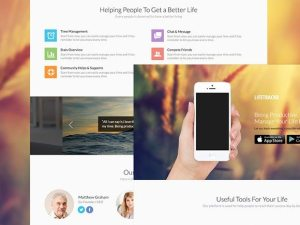 Creative PSD Landing page for apps
