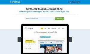 Creative Marketing landing page PSD