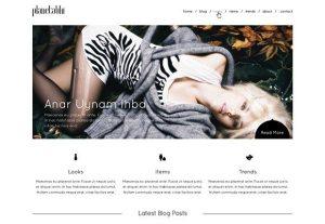 Creative Minimal website template free PSD
