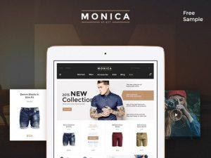 Creative Monica ‰ÛÒ Free PSD UI kit for ecommerce