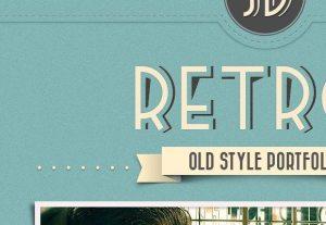 Creative Retro Portfolio ‰ÛÒ Full free PSD pack