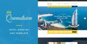 QueensTown : Hotel Booking PSD Template