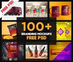 100+ Branding Mockup | Branding Identity Mockup | Free PSD