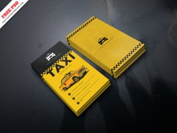 Taxi Service Business Card PSD Freebie