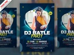 DJ Party Flyer Free PSD
