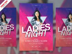 Ladies Night Party Flyer Freebie PSD Free Download