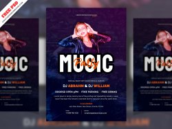 Party Invitation Flyer PSD Template