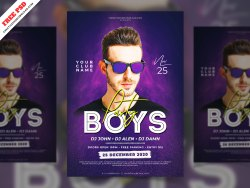 Boys Party Flyer PSD Free Download