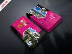 Creative Travel Business Card Free PSD