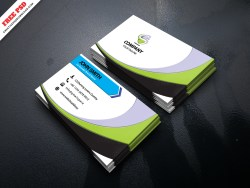 Simple Corporate Business Card Free PSD