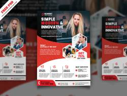 Corporate Flyer Freebie PSD Free Download