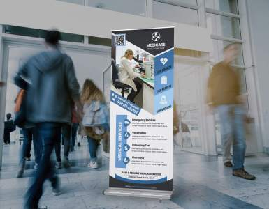 Medical Services Rollup Banner PSD