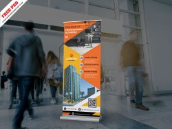 Corporate Roll-up Standee Banner PSD Free Download