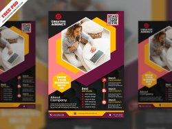 Creative Corporate Flyer Free PSD
