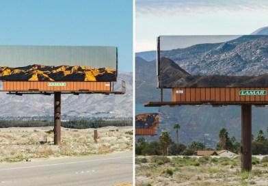 Des panneaux d'affichage parfaitement incrustés à des paysages naturels