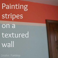 How to Paint Stripes on a Textured Wall - Creative Ramblings
