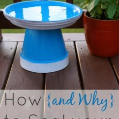 Cheap Plastic Outdoor Chairs Black Chair Covers For Sale How (and Why) To Seal Painted Pots - Plus A Mini Bird Bath Creative Ramblings